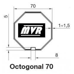 Bagues Octogonal 70 moteur Becker R - Moteur volet roulant