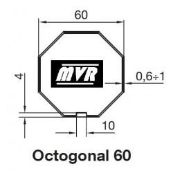 Bagues Octogonal 60 moteur Becker R - Moteur volet roulant