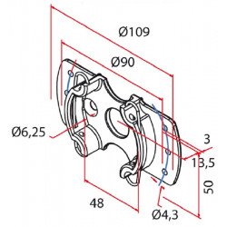 Cherubini - Support moteur 45 mm universel