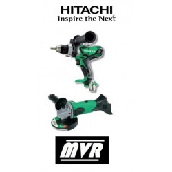 Lot Perceuse visseuse + Meuleuse Hitachi 18V 5Ah - KC18DLL - Outillage