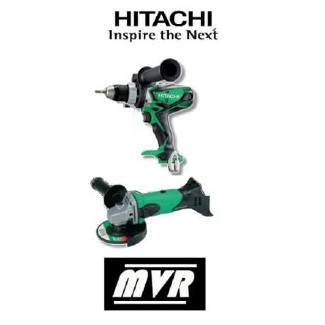 Lot Perceuse visseuse + Meuleuse Hitachi 18V 5Ah - KC18DLL - Outillage