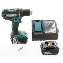 Perceuse visseuse Makita 18V - DDF482RMJ + 2 batteries Li-Ion 4 Ah