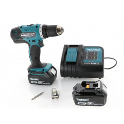 Perceuse visseuse Makita 18V - DDF453SFE + 2 batteries Li-Ion 3 Ah