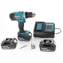 Perceuse visseuse Makita 18V - DDF453SFE3 + 3 batteries Li-Ion 3 Ah