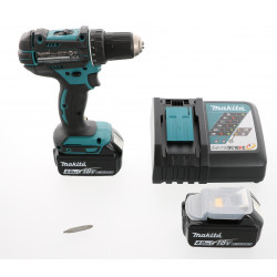 Perceuse visseuse à percussion Makita 18V DHP482RTJ + 2 batteries 5 Ah Li-Ion