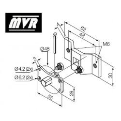 Support moteur Nice Era MH pivot carrée 10 mm