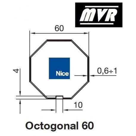 Bagues Octogonal 60 moteur Nice Era M - Era MH
