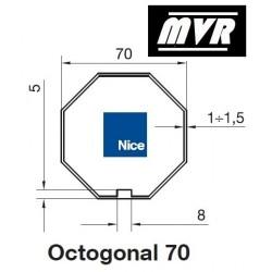 Bagues Octogonal 70 moteur Nice Era M - Era MH