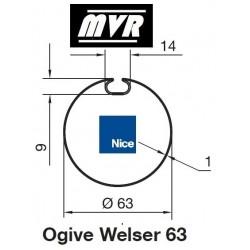 Bagues Welser 63 moteur Nice Era M - Era MH