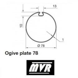 Bagues Ogive plate 78 - moteur Nice Era M - Era MH