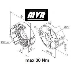 Support moteur Nice Era M Compact plastique