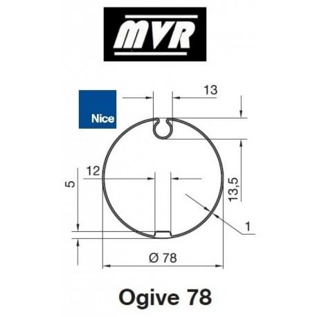 Bagues Ogive 78x1 - moteur Nice Era M - Era MH
