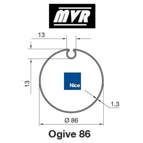 Bagues Ogive 86 - moteur Nice Era M - Era MH