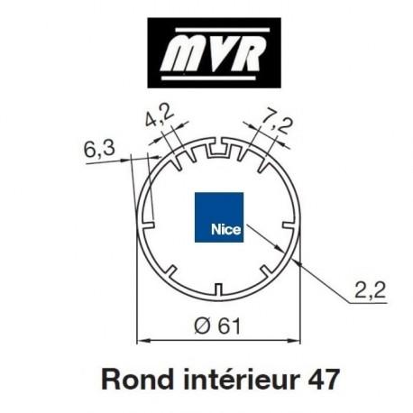 Bagues Rond 61 nervures moteur Nice Era M - Era MH