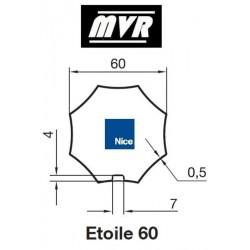 Bagues Octogonal 60 étoile - moteur Nice Era M - Era MH