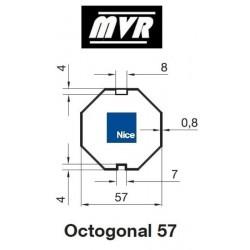 Bagues Octogonal 57 - moteur Nice Era M - Era MH