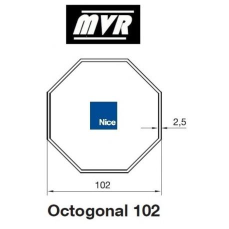 Bagues Octogonal 102 - moteur Nice Era M - Era MH