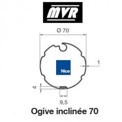 Bagues Ogive 70 inclinée - moteur Nice Era M - Era MH