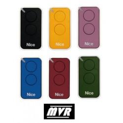 Pack famille de 6 telecommandes Nice Era inti - 2 canaux - 6 couleurs