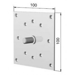 Support plaque coussinet pour treuil 100x100 - Volet roulant
