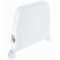 Enrouleur apparent blanc avec cordon - 4 mm x 4 m