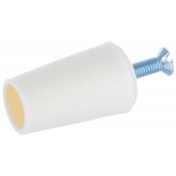 Butée volet roulant conique 40 mm crème blanc