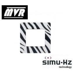 Cadre pour emetteur Simu mural Zebre