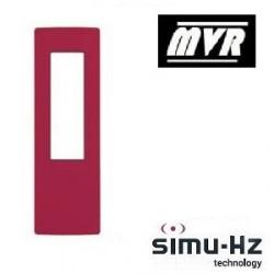 Cadre pour telecommande Simu Rouge framboise