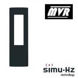 Cadre pour telecommande Simu Anthracite chrome