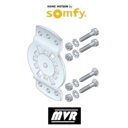 Support moteur Somfy LT50 - LT60 CSI - entraxe 40 a 45mm