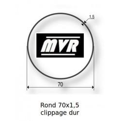 Bagues moteur Somfy LT60 - Rond lisse 70x1,5 clippage dur