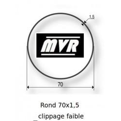 Bagues moteur Somfy LT60 - Rond lisse 70x1,5 clippage faible