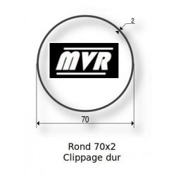 Bagues moteur Somfy LT60 - Rond lisse 70x2 clippage dur